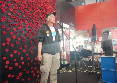 Chip Eling, NEBTLC, speaking at ICAN event in Albury, Sept 2018