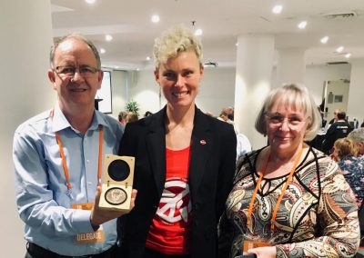 Dan Hill and Cheryl Hamill, HSU, with Gem, December 2018
