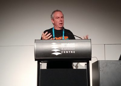 Michael Clifford, Queensland Council of Unions, speaking at ICAN event, July 2018